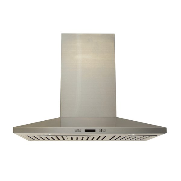 Lotus Wall Mounted Range Hood With Touch Panel Control 3 Speed 900 Cfm 30 In Lts Z01 30 Rona