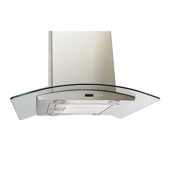 Lotus Wall Mounted Range Hood In Stainless Steel With 6 Speed Levels 900 Cfm 36 In Rona
