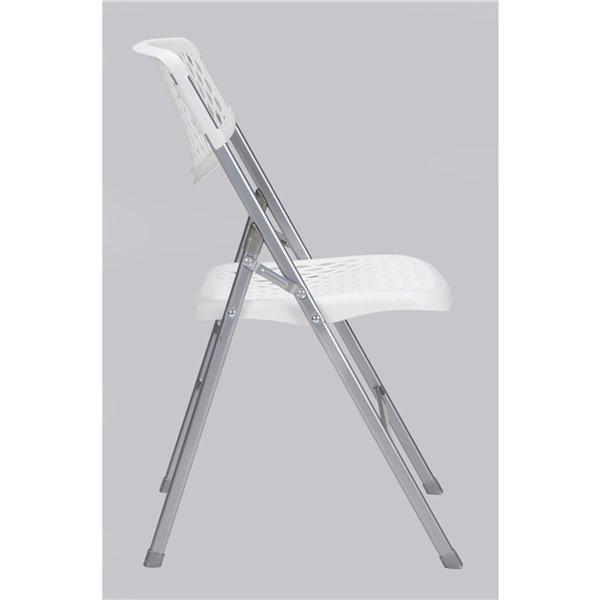 Chaise pliante en résine COSCO - Blanc - 4 mcx
