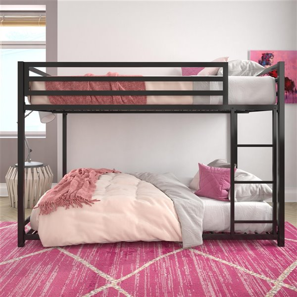 DHP Miles Bunk Bed - Full - 56.5-in x 77.5-in x 54-in - Blue