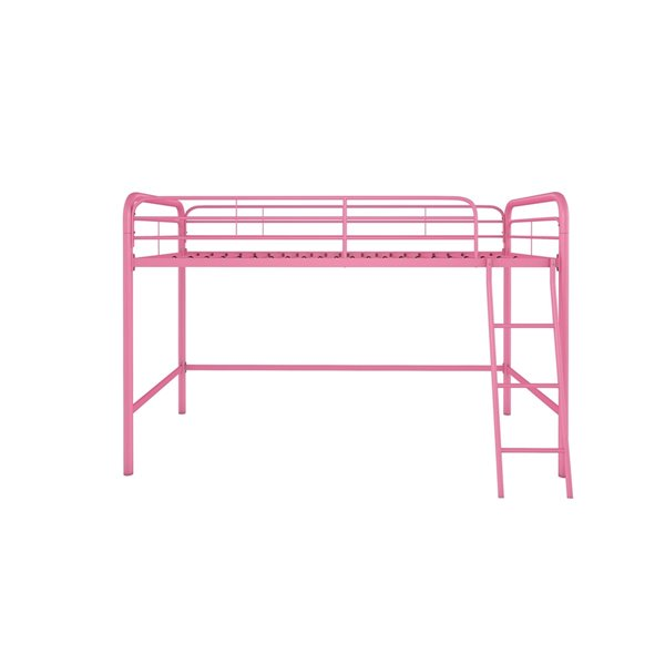 DHP Loft Bed - Twin - 41.5-in x 78-in x 50-in - Navy