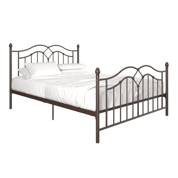 DHP Tokyo Metal Bed - Queen - 62.5-in x 44.5-in x 83-in - Bronze
