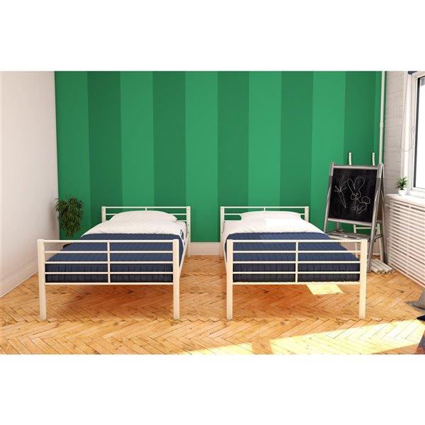 DHP DHP Bunk Bed - Twin/Twin - 41.5-in x 78-in x 61.5-in - Silver