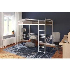DHP Loft Bed - Twin - 41.5-in x 78-in x 50-in - White