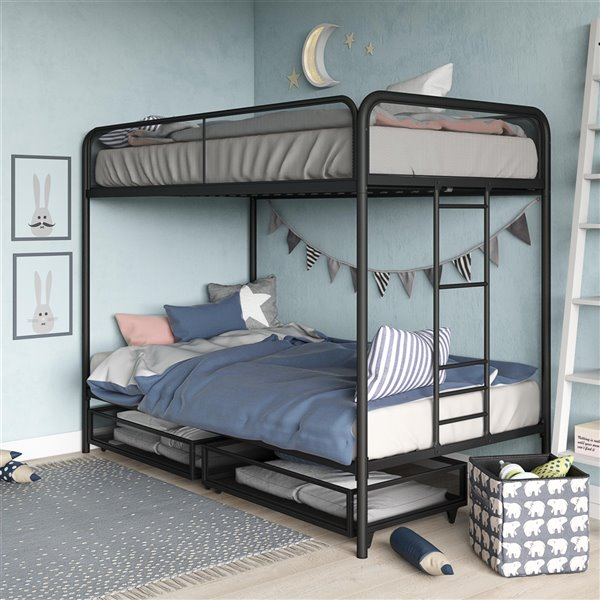 DHP Bunk Bed - Twin/Twin - 41.5-in x 78-in x 61.5-in - White