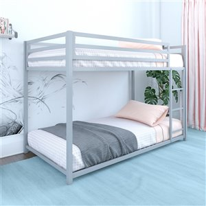 DHP Miles Bunk Bed - Twin/Twin - 41.5-in x 77.5-in x 54-in - Black