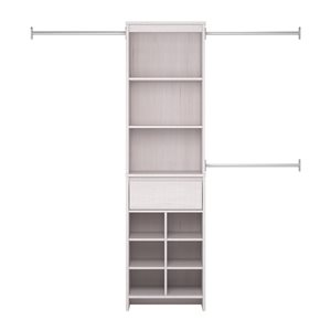 Little Seeds Grow-with-Me Adjustable Kids' Closet Organizer System - 15.7-in x 76.6-in - White