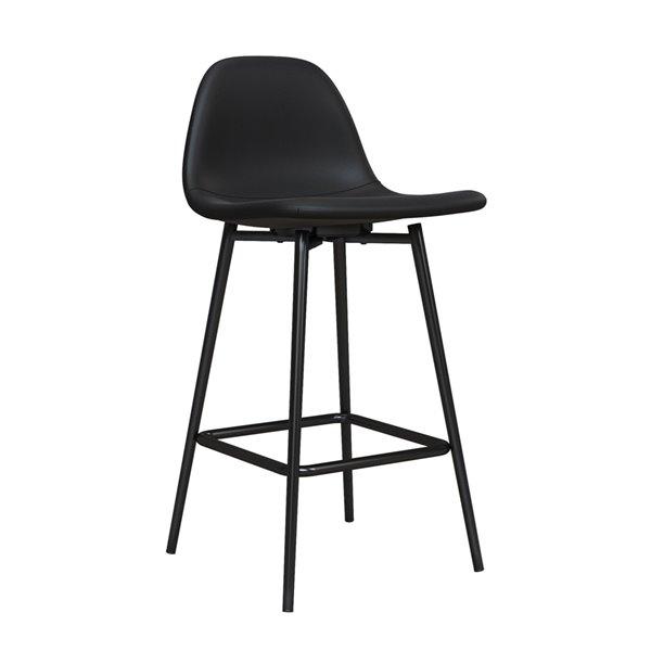 DHP Calvin Upholstered Counter Stool - Black