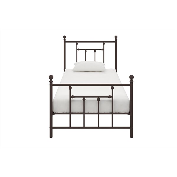 DHP Maddie Upholstered Bed - Queen - 39.5-in x 64.5-in x 84-in - Gray