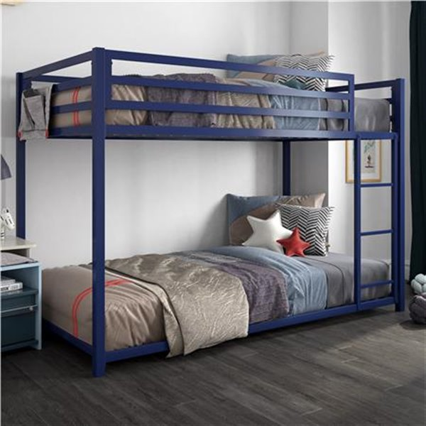 DHP Miles Bunk Bed - Twin - 41.5-in x 77.5-in x 54-in - Blue