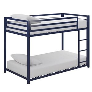 Lit superposé Miles de DHP, simple, 41,5 po x 77,5 po x 54 po, bleu