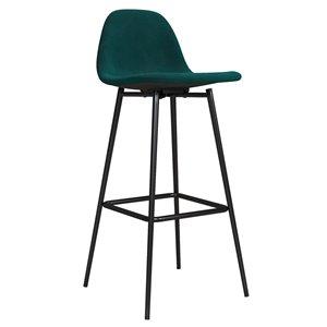 DHP Calvin Upholstered Bar Stool - Green