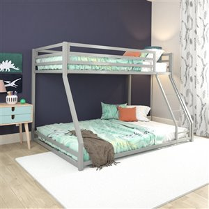 DHP Miles Bunk Bed - Twin - 56.5-in x 77.5-in x 54-in - Blue