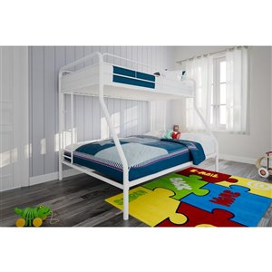 DHP Bunk Bed - Full/Twin - 61.5-in x 78-in x 56.5-in - White