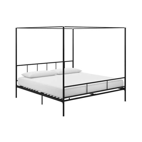 Novogratz Marion Canopy Bed - King - 73-in x 78-in x 82.5-in - Black