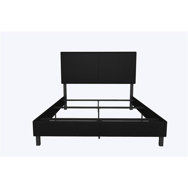 DHP Janford Upholstered Bed - Full - 45.5-in x 58.5-in x 77.5-in - Black