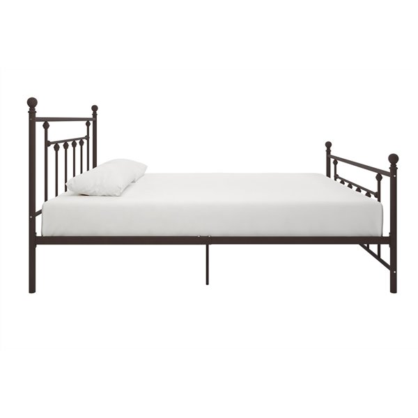 DHP Maddie Upholstered Bed - Twin - 39.5-in x 43.5-in x 79-in - Gray