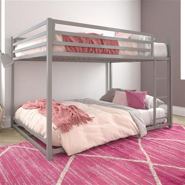 DHP Miles Bunk Bed - Full - 56.5-in x 77.5-in x 54-in - Black