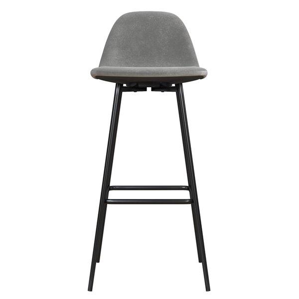 Tabouret de bar rembourré Calvin de DHP, gris