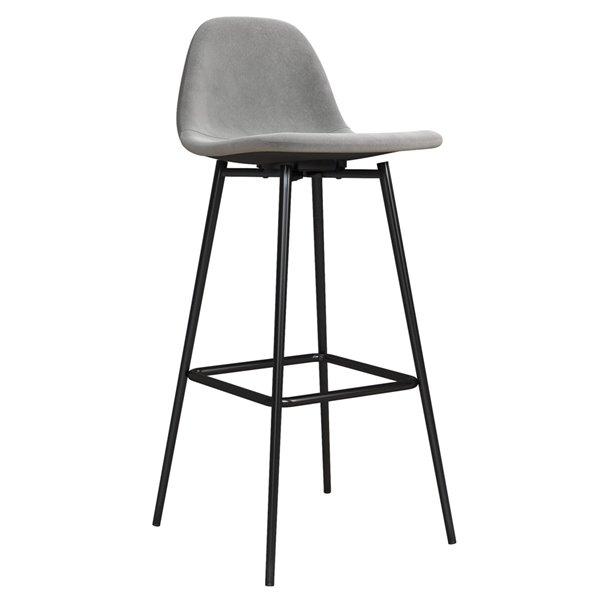 DHP Calvin Upholstered Bar Stool - Gray