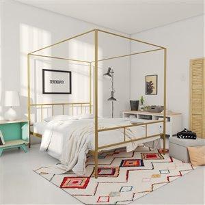 Novogratz Marion Canopy Bed - Queen - 73-in x 62-in x 82.5-in - Gold
