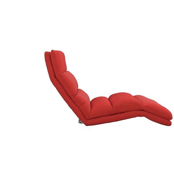 DHP Beverly Wave Adjustable Memory Foam Lounger - 25.5-in - Red