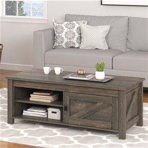 Table de salon Farmington de Ameriwood, 23,62 po x 47,6 po x 18,39 po, chêne délavé