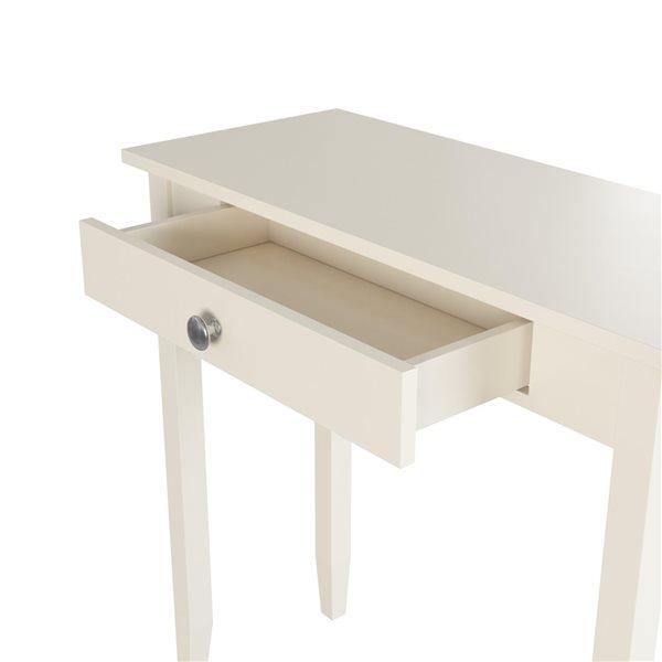 Table d'appoit Rosewood de DHP, 28 po x 28 po, blanc