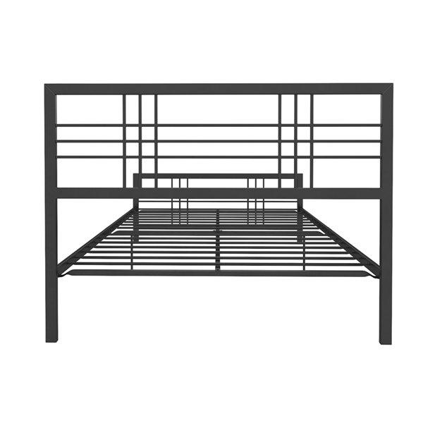DHP Burbank Metal Bed - Queen - 46-in x 62.5-in x 82-in - Black