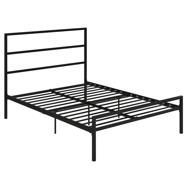 DHP Modern Metal Canopy Bed - Twin - 73.5-in x 42-in x 78.5-in - White
