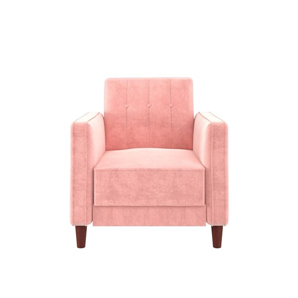 DHP Pin Tufted Accent Chair - 18.5-in - Pink