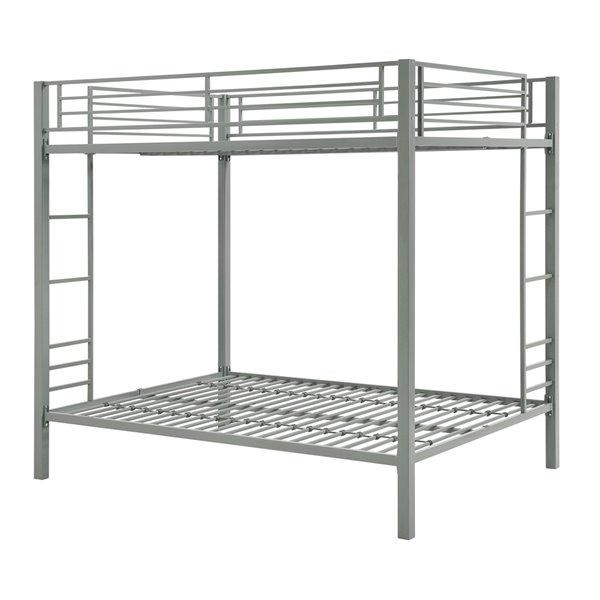 DHP Bunk Bed - Full/Full - 72-in x 78.5-in x 56.5-in - Silver