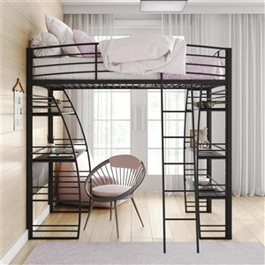 DHP Miles Bunk Bed - Twin/Twin - 41.5-in x 77.5-in x 54-in - Silver