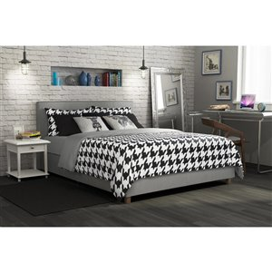 DHP Maddie Upholstered Bed - Full - 39.5-in x 58.5-in x 79-in - Gray