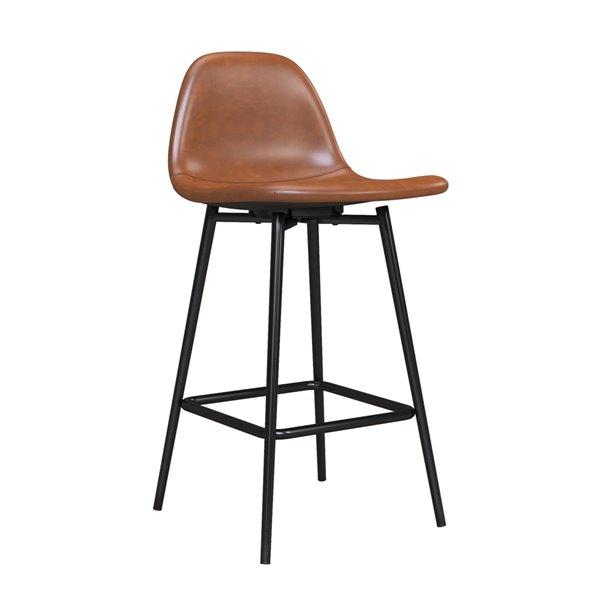 DHP Calvin Upholstered Counter Stool - Camel - 1-Pk