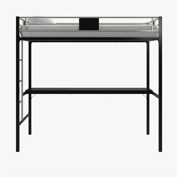 DHP Loft Bed - Twin/Twin - 72-in x 77.5-in x 41-in - Black