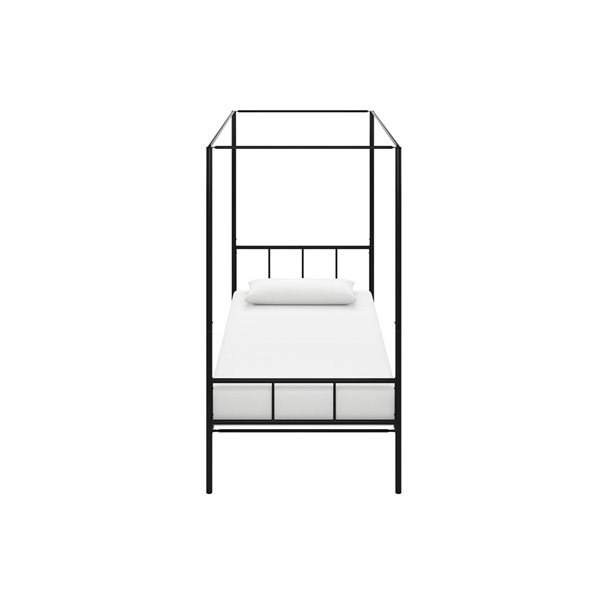 Novogratz Marion Canopy Bed - Twin - 73-in x 41-in x 77-in - Black