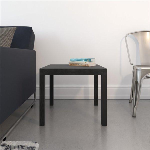 Table d'appoint Parsons de DHP, 20 po x 20 po x 17,5 po, noir