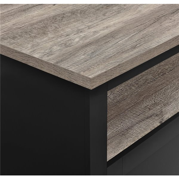 Table de salon Carver de Ameriwood, 35,4 po x 35,4 po x 17 po, noir