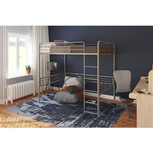 DHP Loft Bed - Full/Full - 72.5-in x 78-in x 56.5-in - Silver