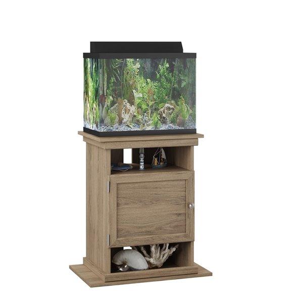 Meuble pour aquarium 10/20 gallons Flipper de Ameriwood, chêne rustique