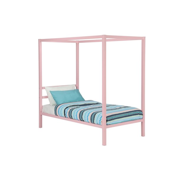 DHP Miles Metal Bed - Twin - 46-in x 41-in x 77-in - Blue