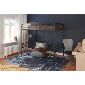 DHP Loft Bed - Full/Full - 72.5-in x 78-in x 56.5-in - Black