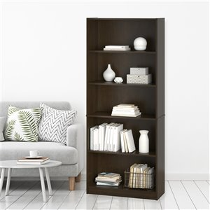 Ameriwood Hayden 5-Shelf Bookcase - 27.44-in x 71.5-in - Espresso