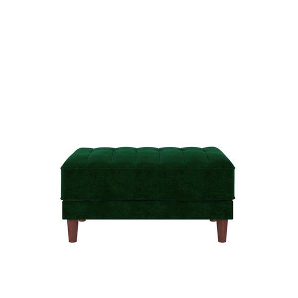 DHP Pin Tufted Ottoman - 21-in x 35.5-in x 18.5-in - Green