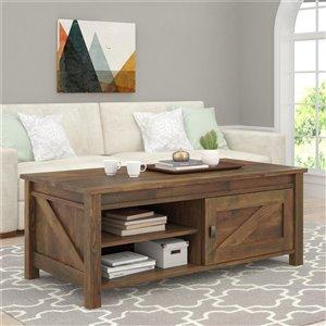 Table de salon Farmington de Ameriwood, 23,63 po x 47,63 po x 18,38 po, rustique