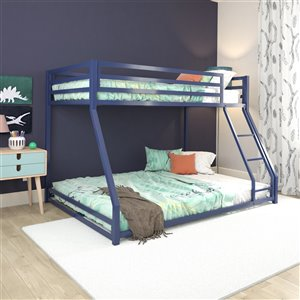 DHP Miles Bunk Bed - Twin - 56.5-in x 77.5-in x 54-in - Silver