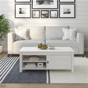 Table de salon Farmington de Ameriwood, 23,62 po x 47,6 po x 18,39 po, chêne ivoire