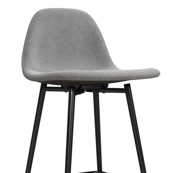 DHP Calvin Upholstered Counter Stool - Gray - 1-Pk