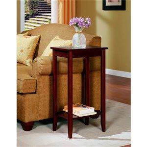 Table d'appoint haute Rosewood de DHP, 12 po x 16 po x 29 po, brun